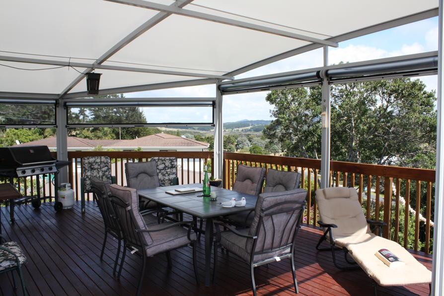 Outdoor canopy curtains by Fresco Shades