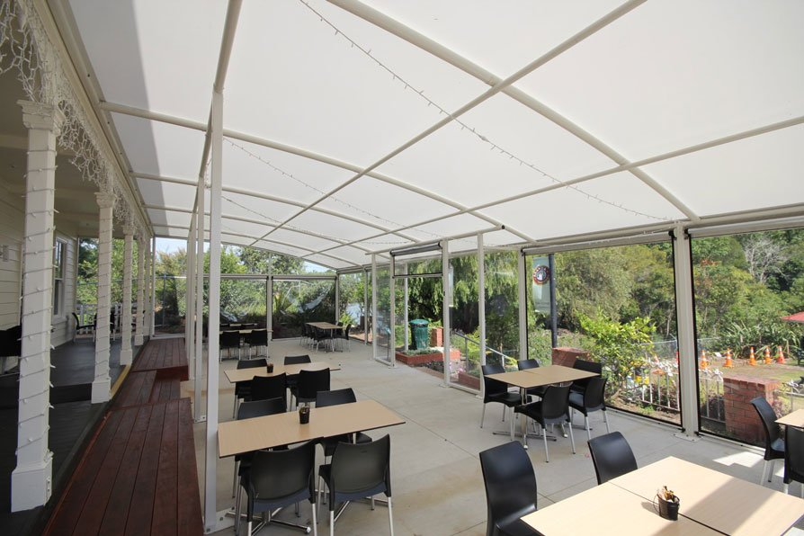 Motat Cafe Canopy by Fresco Shades